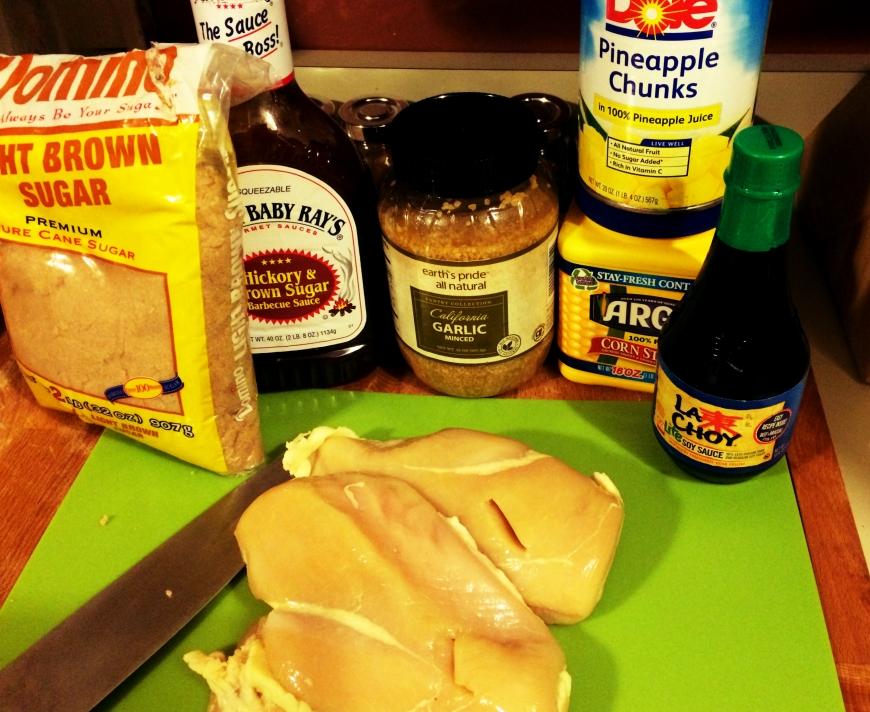 Sweet BBQ Hawaiian Chicken from theCrockpot!